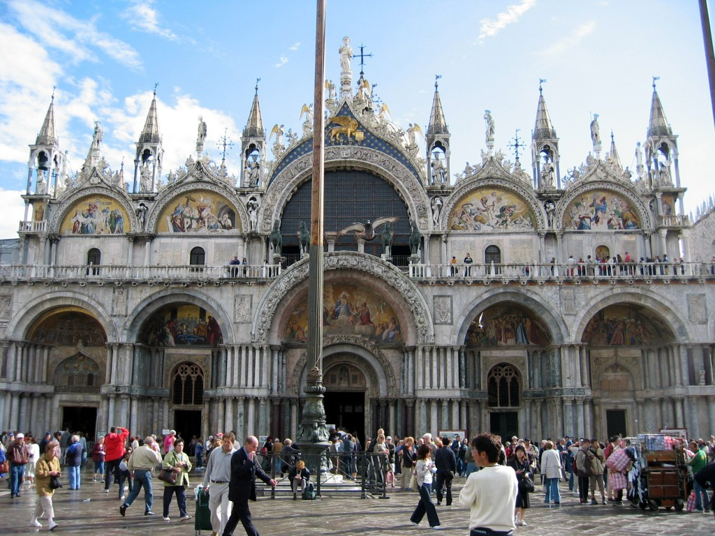Saint Mark's Basilica... ...also, referred to as Church of Gold, for opulent design, gold ground mosaics, and its status as a symbol of Venetian wealth and power