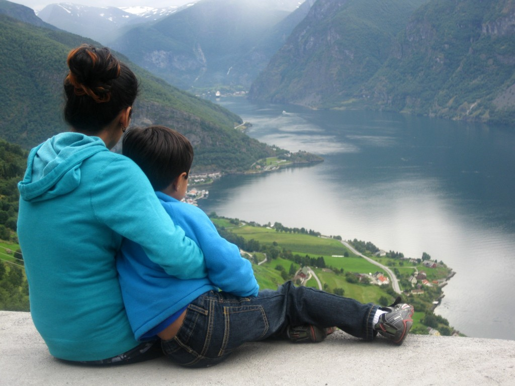 Captivated by the unadulterated and spectacular beauty of Aurlandsfjord