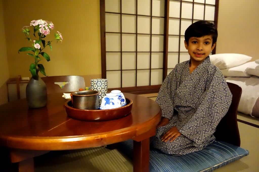 The ryokan experience... ...Rohan wearing a yukata