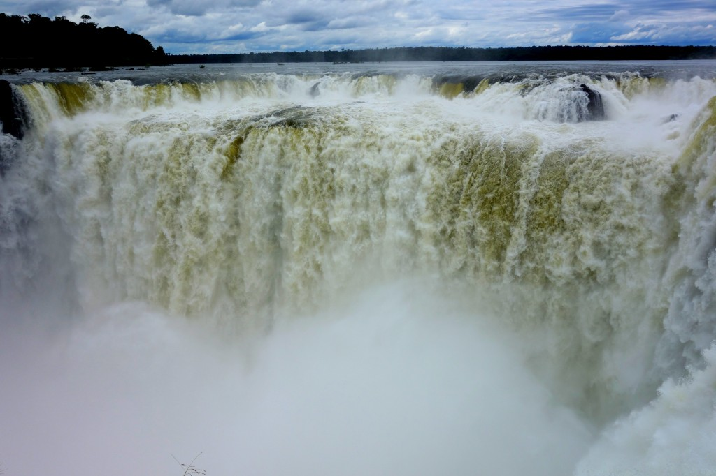 Mouth of Garganta del Diablo (Devil's Throat)—a long and narrow chasm that takes in half of the flow of Iguazú river