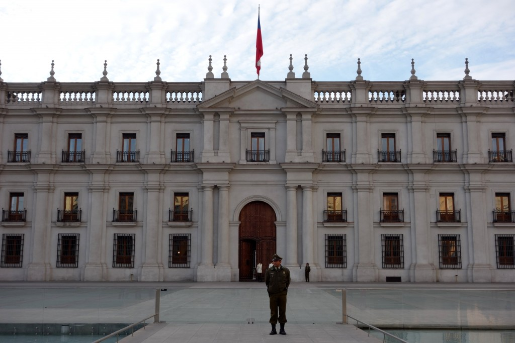 Palacio de La Moneda (The Coin Palace) where the President of Chile works