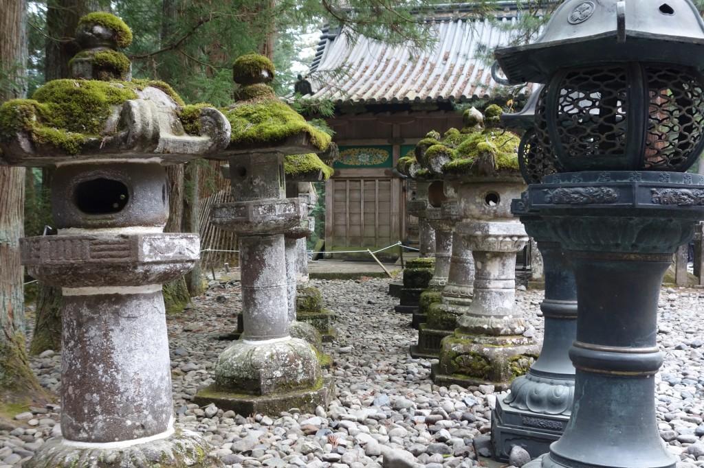 Tōrōs (traditonal lanterns) keeping guard on the grounds of Nikkō Tōshō-gū shrine