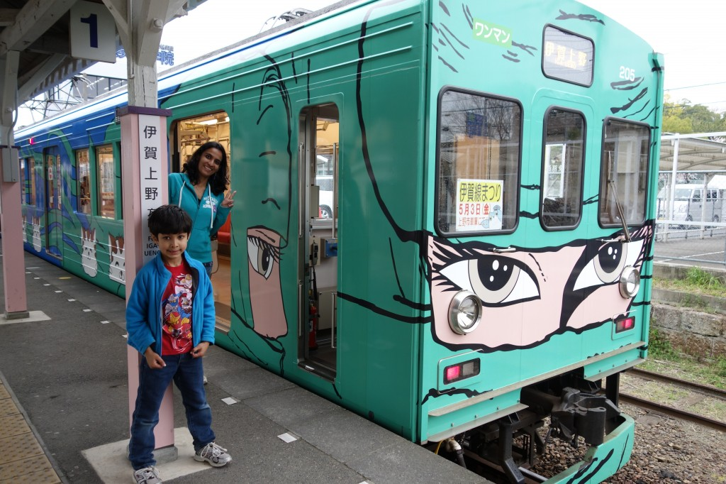 You know you are in ninja territory when even the train is dressed like one