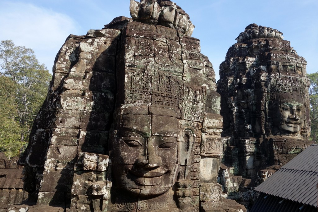 The most famous face of all face towers in Bayon temple; supposedly of King Jayavarman VII who built the temple at the end of the 12th century... ...I was mesmerized by that serene smile!