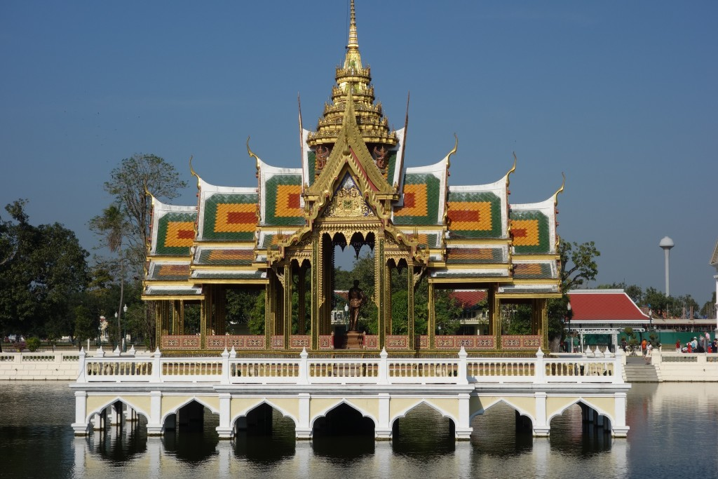 Aisawan Thiphya-At (Divine Seat of Personal Freedom) pavilion at the Bang Pa-In Royal Palace... ...a favorite spot of the royal family to read poetry