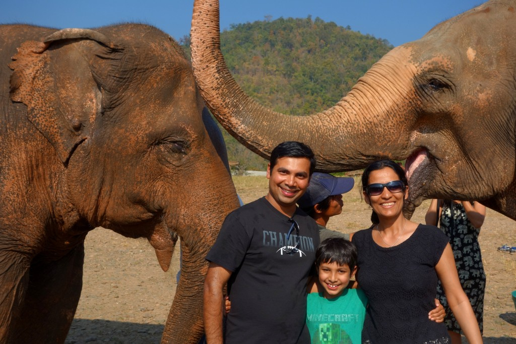 Really happy that we got a chance to spend time with these magnificent Asian elephants... ...