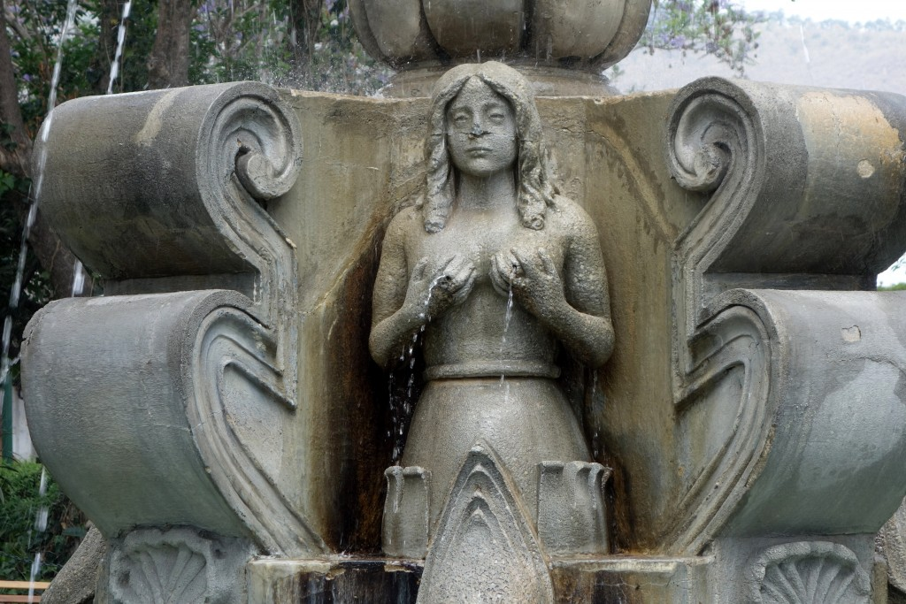One of the four mermaids from the risqué Fuente de las Sirenas (Mermaids Fountain) in Central Parque