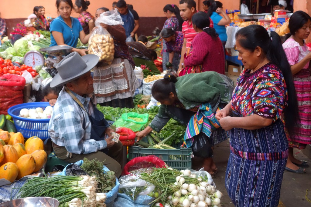 """""""C'mon, you aren't serious about that price, are you?""""... ...haggling at theChichicastenango vegetable market"""